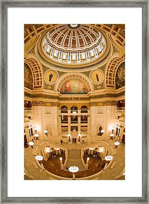 Pennsylvania State Capitol Dome And Rotunda Framed Print by Frank Tozier