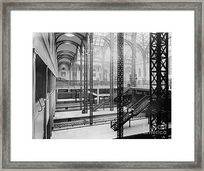 Pennsylvania Station, New York, 1910s Framed Print by Hagley Archive