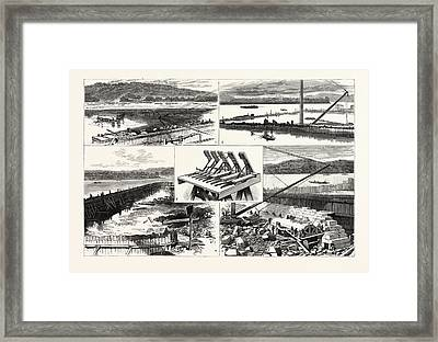 Pennsylvania The New Government Work At Davis Island Dam Framed Print by American School
