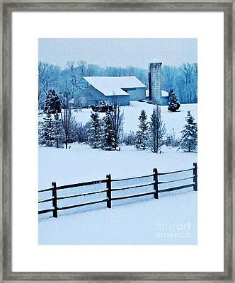 Pennsylvania Winter Framed Print