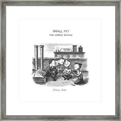 Penny Ante Framed Print by William Steig