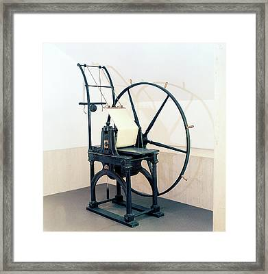 Penny Black Stamp Press Framed Print by British Library