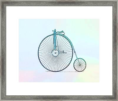 Penny-farthing Bicycle Color Framed Print