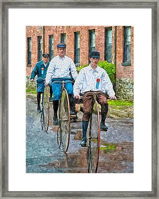 Penny-farthing Bikes Framed Print