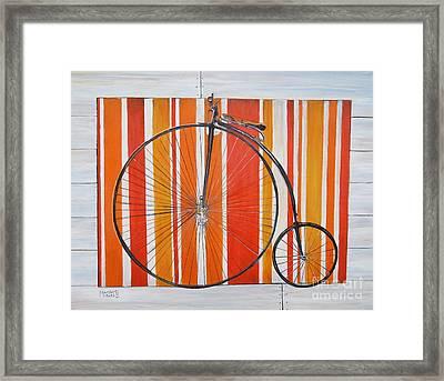 Penny-farthing Framed Print by Marilyn  McNish