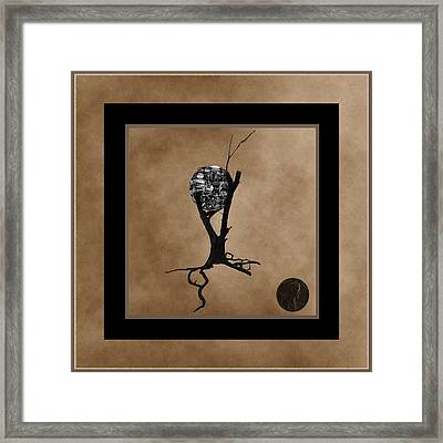 Penny For Your Thoughts Framed Print by Barbara St Jean