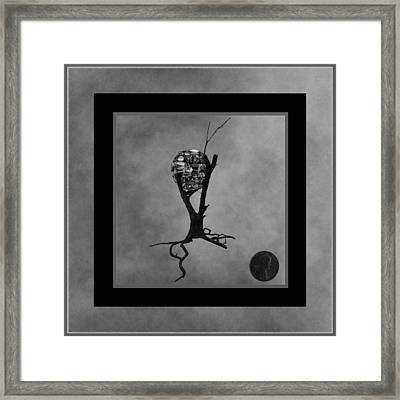 Penny For Your Thoughts Bw Framed Print by Barbara St Jean