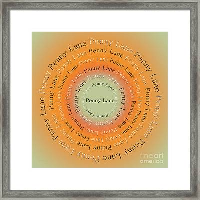 Penny Lane 1 Framed Print by Andee Design