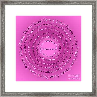 Penny Lane 3 Framed Print by Andee Design
