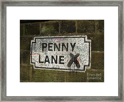 Penny Lane Is In My Heart Framed Print by Alan Wynne