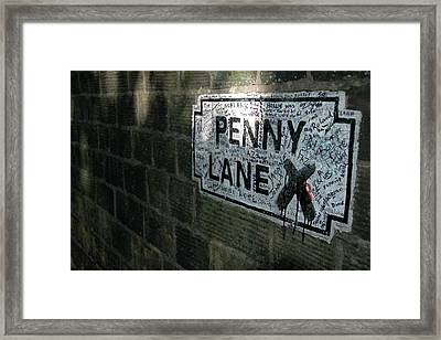 Penny Lane Framed Print by Jonah  Anderson