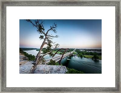 Pennybacker Bridge Austin Framed Print