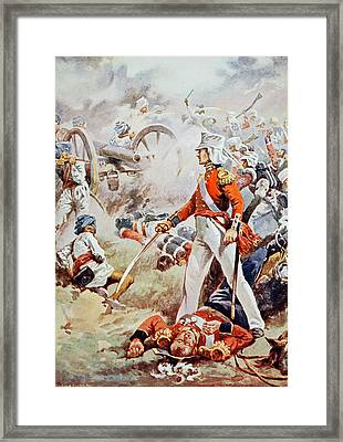 Pennycuick Was Killed His Gallant Son Framed Print