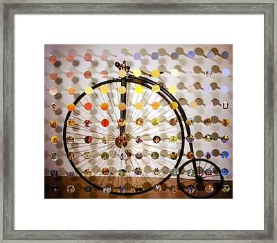 Pennyfarthing Sunsetsegue Framed Print by Irmari Nacht