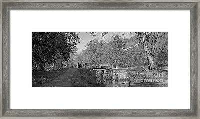 Pennyfield Lock Chesapeake And Ohio Canal Framed Print