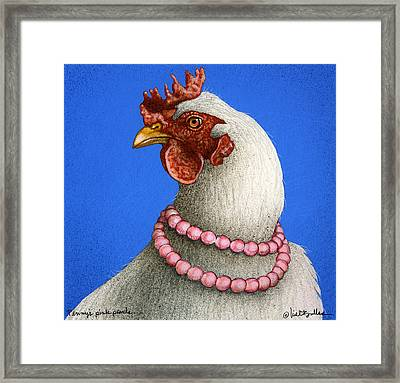 Penny's Pink Pearls... Framed Print