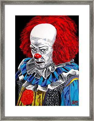 Pennywise Framed Print by Jose Mendez