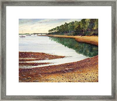 Framed Print featuring the painting Penobscot Bay by Roger Rockefeller