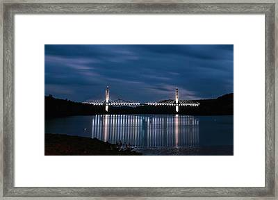 Penobscot Narrows Bridge And Observatory At Night Framed Print
