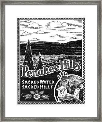 Penokee Hills Framed Print