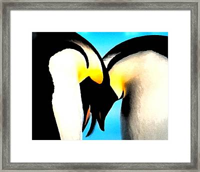 Penquin Love Dance Framed Print
