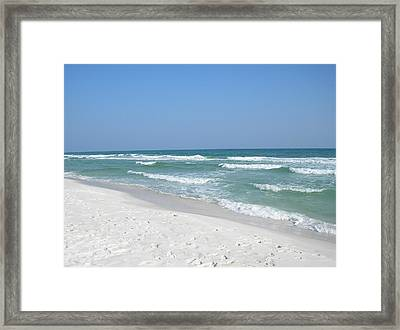 Framed Print featuring the photograph Pensacola Beach by Alan Lakin