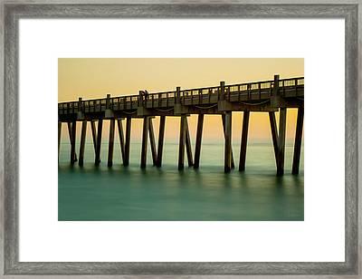 Pensacola Beach Fishing Pier Framed Print