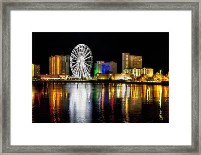 Framed Print featuring the photograph Pensacola Beach Skyline by Tim Stanley