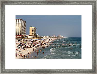 Pensacola Beach Tourists Framed Print