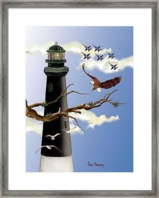 Pensacola Light House Tower Framed Print