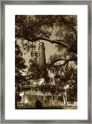 Pensacola Lighthouse Framed Print by Skip Willits