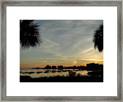 Pensacola Sunset Framed Print by Cindy Croal