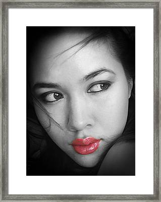 Pensive Beauty Framed Print