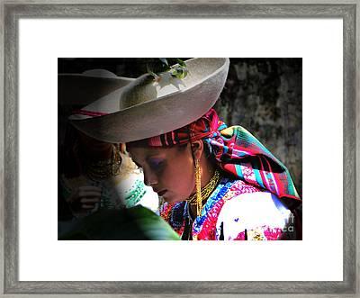 Pensive Dancer Framed Print