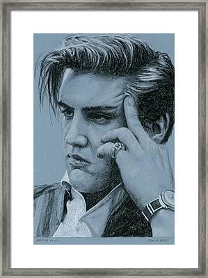 Pensive Elvis Framed Print by Rob De Vries