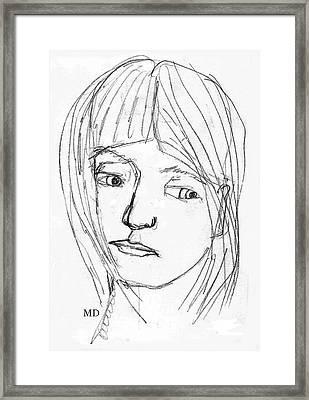 Pensive Girl Framed Print by Michael Dohnalek