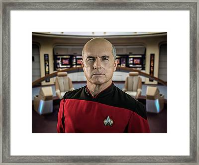 Pensive Picard Framed Print by Randy Turnbow
