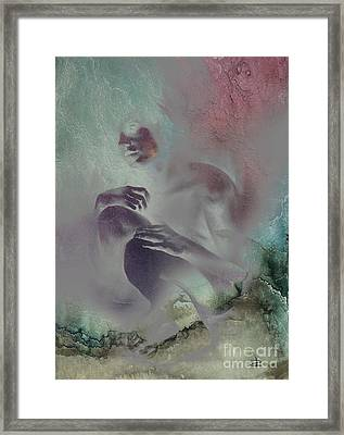 Framed Print featuring the drawing Pensive With Texture 2 by Paul Davenport