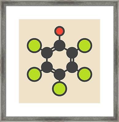 Pentachlorophenol Pesticide Molecule Framed Print