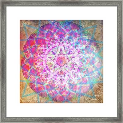 Pentacle Mandala  Framed Print