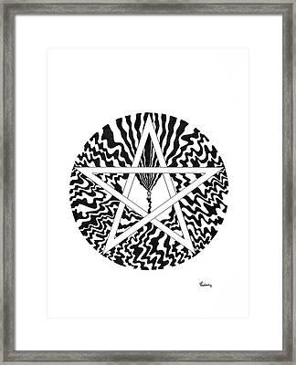Pentagram Framed Print by Peter Hermes Furian