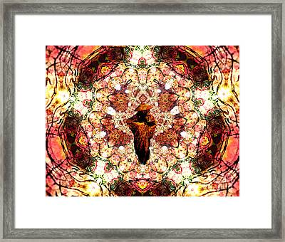 Pentagrammathanatos Severe Beauty Framed Print by Aeres Vistaas