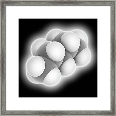 Pentane Molecule Framed Print by Laguna Design