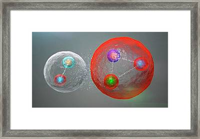 Pentaquark Particle Framed Print by Cern