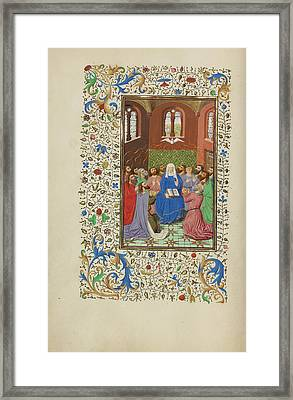 Pentecost Master Of Wauquelins Alexander Or Workshop Framed Print by Litz Collection