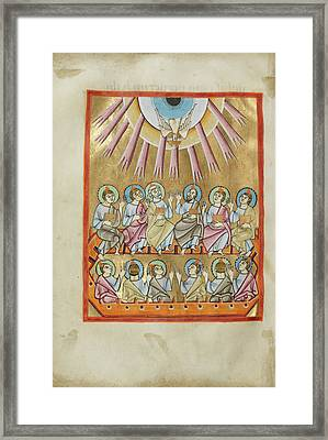 Pentecost Unknown Regensburg, Bavaria, Germany Framed Print by Litz Collection