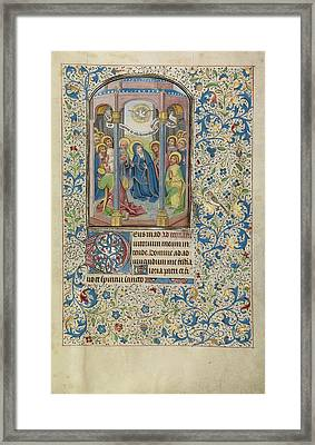 Pentecost Willem Vrelant, Flemish, Died 1481 Framed Print by Litz Collection