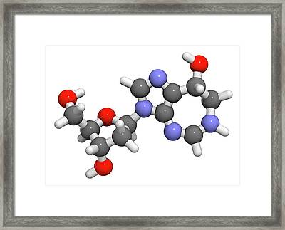 Pentostatin Cancer Drug Molecule Framed Print