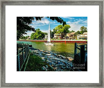 Pentwater Channel Michigan Framed Print by Nick Zelinsky