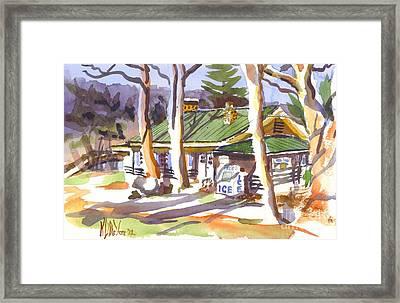 Penuel Lodge In Winter  Framed Print by Kip DeVore